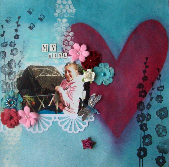Alexa Noble anything but a card challenge blog altered scrapbook page layout
