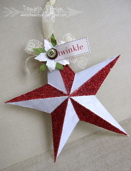 Twinkle star ornament  by Daniela Dobson anything but a card challenge blog